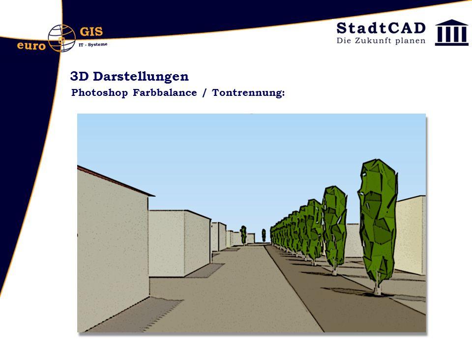 3D Darstellungen Photoshop Farbbalance / Tontrennung: