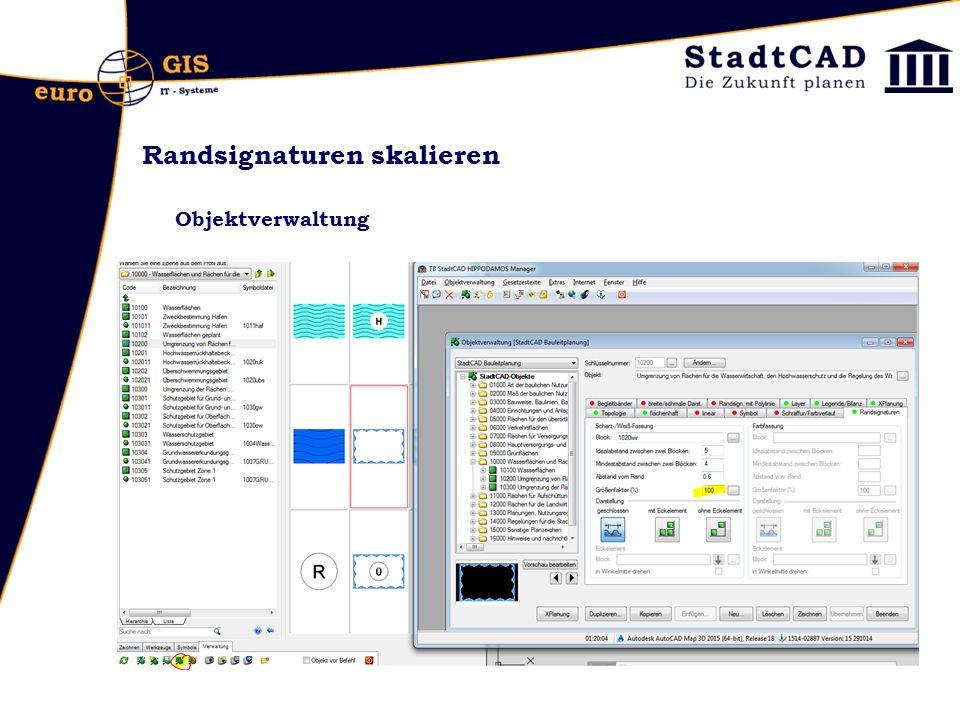 Randsignaturen skalieren Objektverwaltung