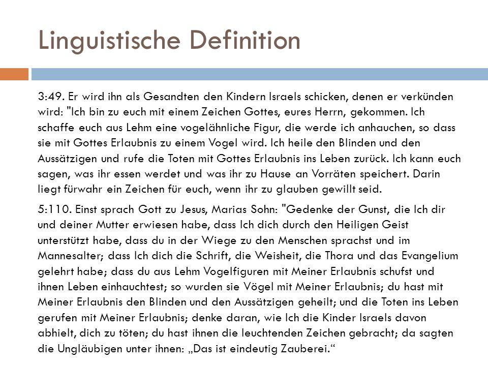 """Linguistische Definition  Daher nennt man Allah der """"beste Erschaffer, d.h."""