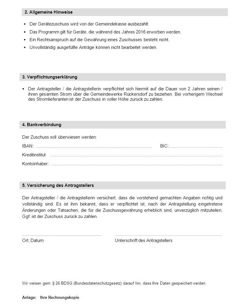 Merkblatt zum Förderprogramm der Gemeindewerke Rückersdorf Stromeffizienter Haushalt 2016 Mit dem Einsatz moderner Geräte kann ein er- heblicher Beitrag zum Stromsparen und zum Klimaschutz geleistet werden.