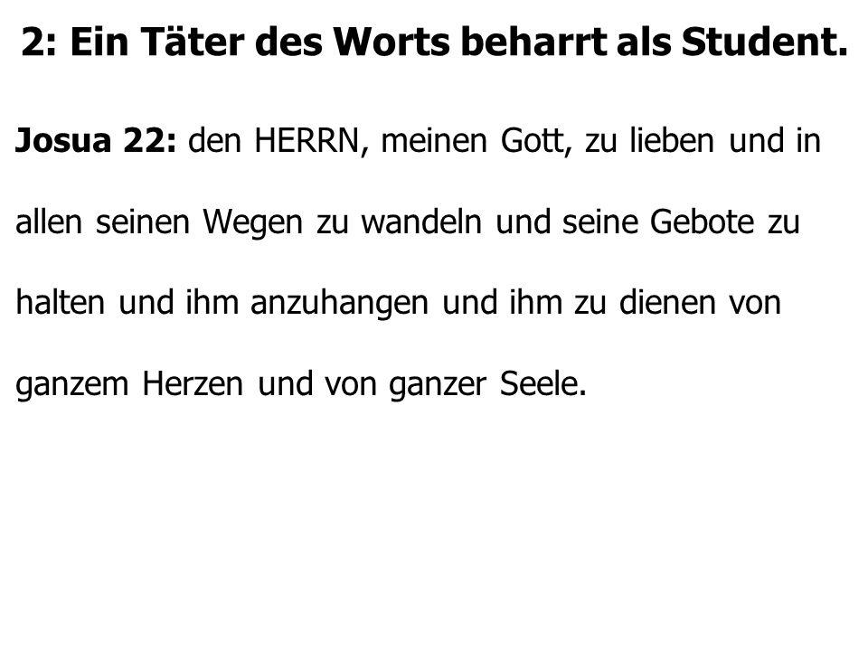 2: Ein Täter des Worts beharrt als Student.