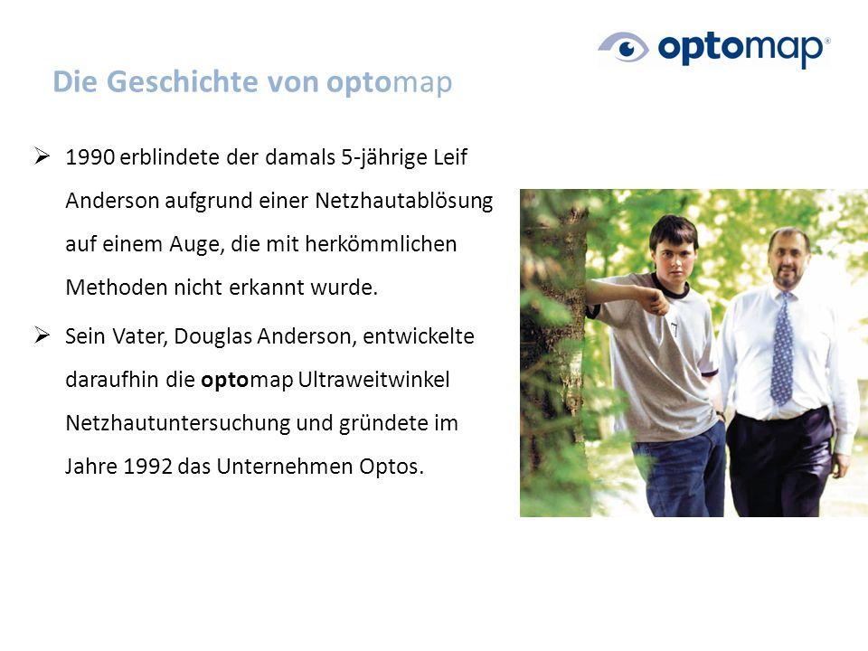 Die Geschichte von optomap  1990 erblindete der damals 5-jährige Leif Anderson aufgrund einer Netzhautablösung auf einem Auge, die mit herkömmlichen Methoden nicht erkannt wurde.