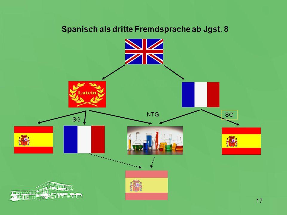 Spanisch als dritte Fremdsprache ab Jgst. 8 NTG SG 17
