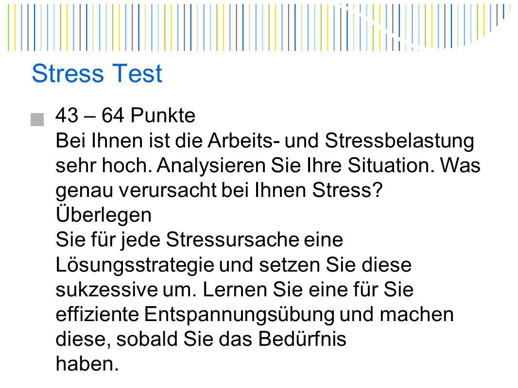 Ergometrie Stress und seine Auswirkungen + KHK