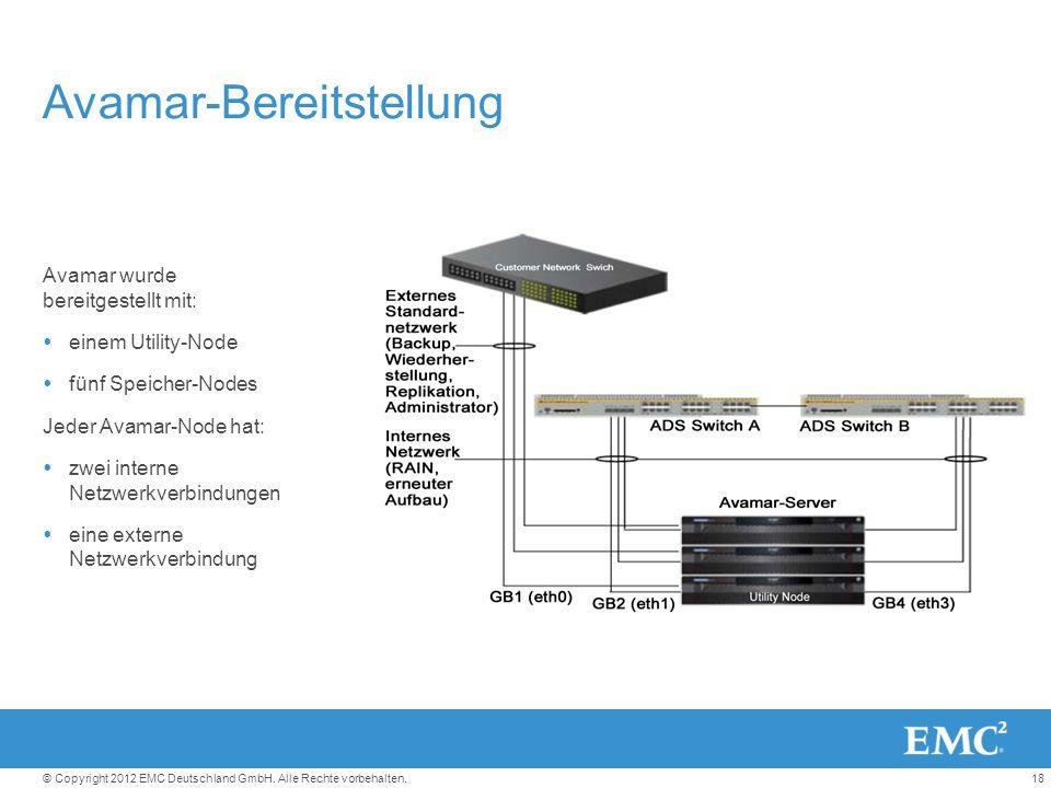 18© Copyright 2012 EMC Deutschland GmbH. Alle Rechte vorbehalten.