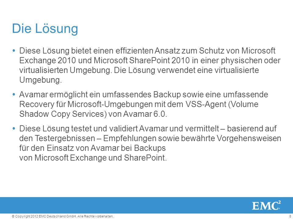 8© Copyright 2012 EMC Deutschland GmbH. Alle Rechte vorbehalten.