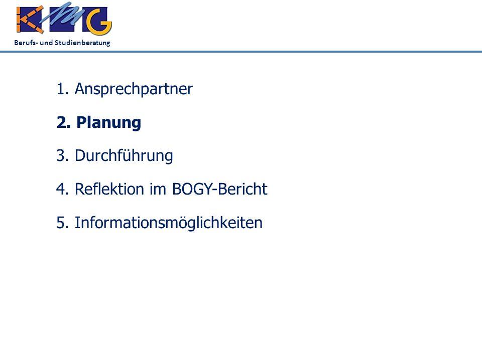 Berufs- und Studienberatung 5.Informationsmöglichkeiten 1.