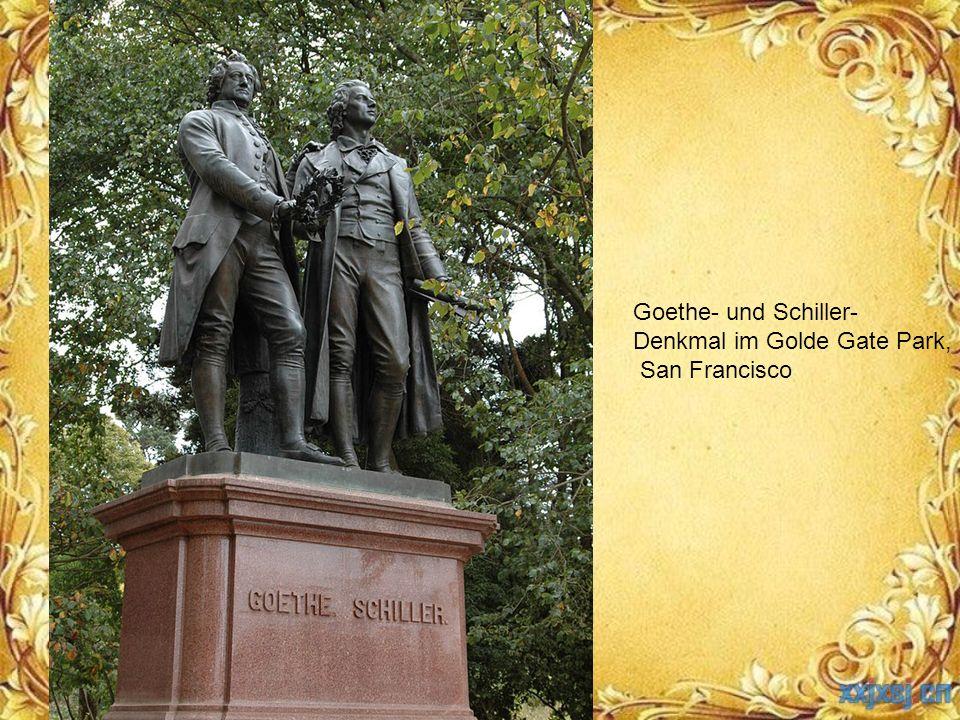 Goethe- und Schiller- Denkmal im Golde Gate Park, San Francisco