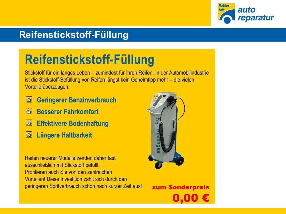 Reifenstickstoff-Füllung zum Sonderpreis 0,00 €