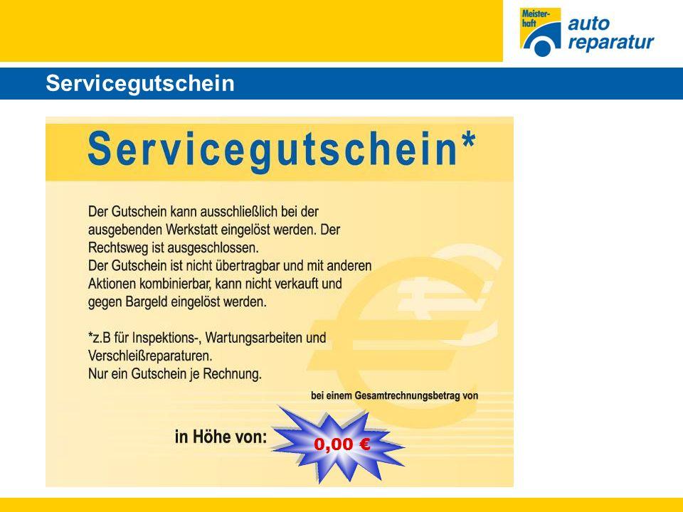 Servicegutschein 0,00 €
