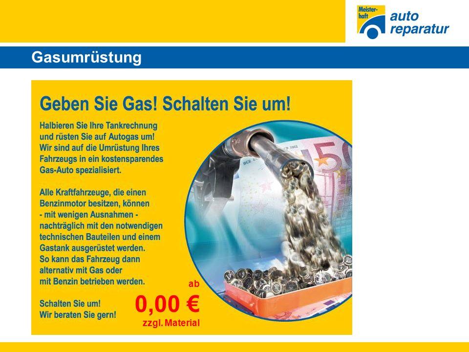 Gasumrüstung ab 0,00 € zzgl. Material