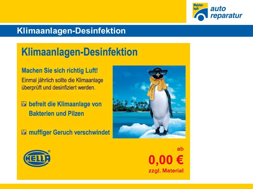 Klimaanlagen-Desinfektion ab 0,00 € zzgl. Material