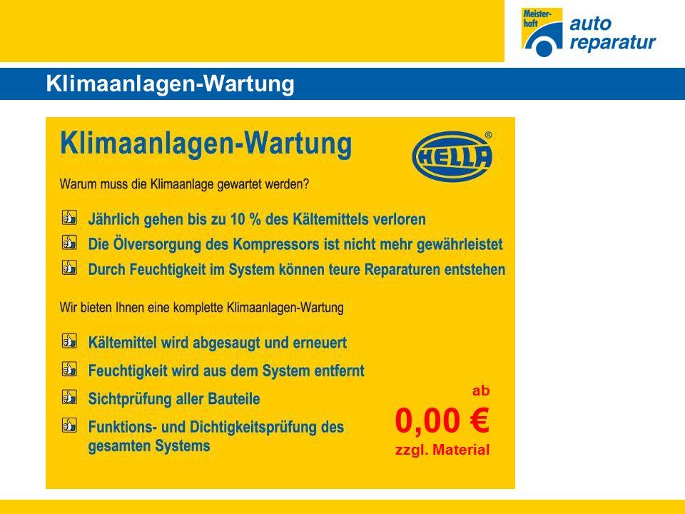 Klima-Service-Paket ab 0,00 € zzgl. Material