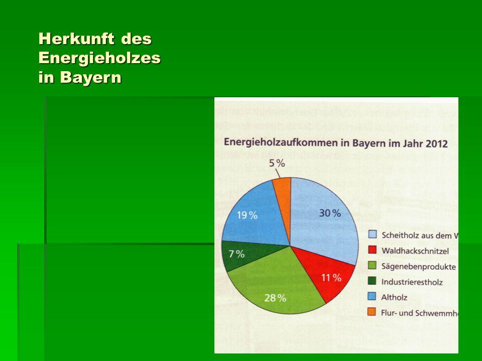 Herkunft des Energieholzes in Bayern