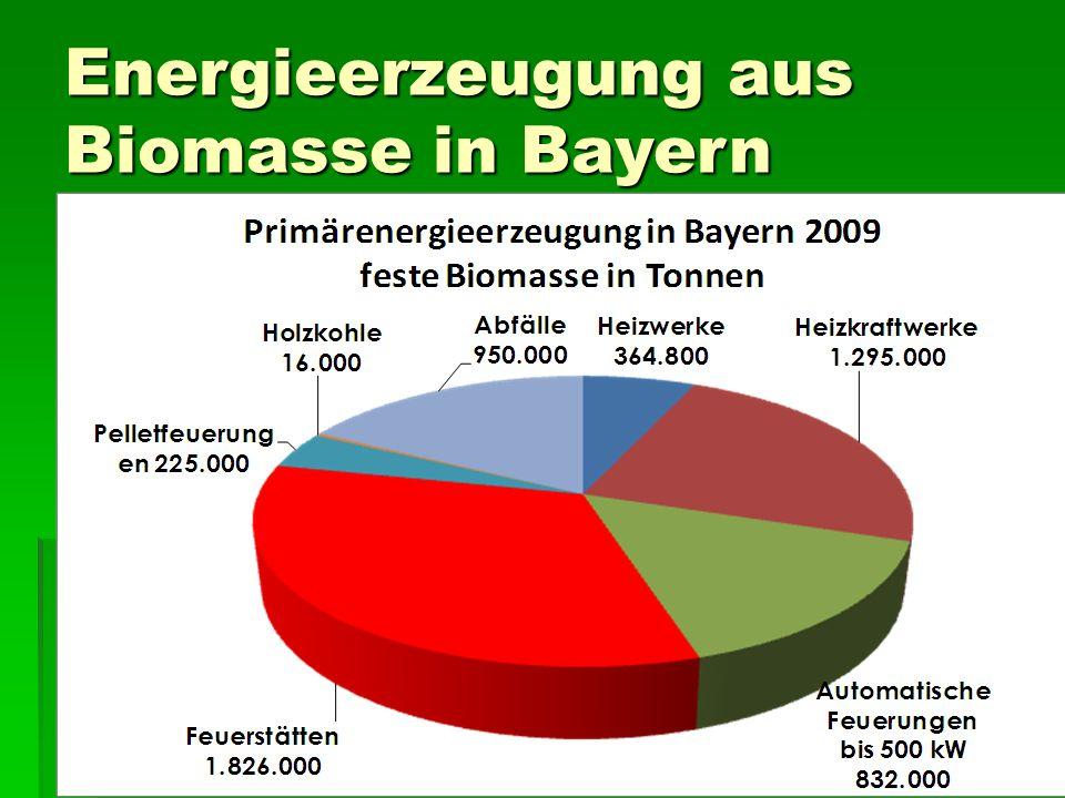 Energieerzeugung aus Biomasse in Bayern