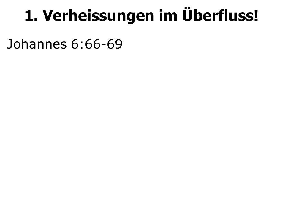 Johannes 6:66-69 1. Verheissungen im Überfluss!