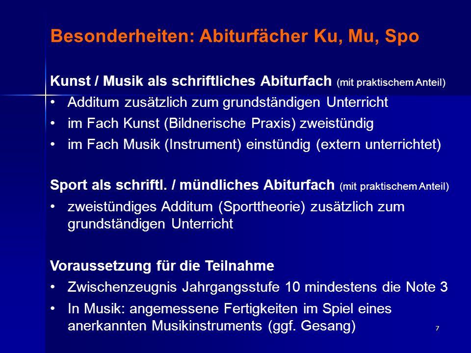 8 Ablauf der Fächerwahl Erstwahl: 25.01.– 29.01.