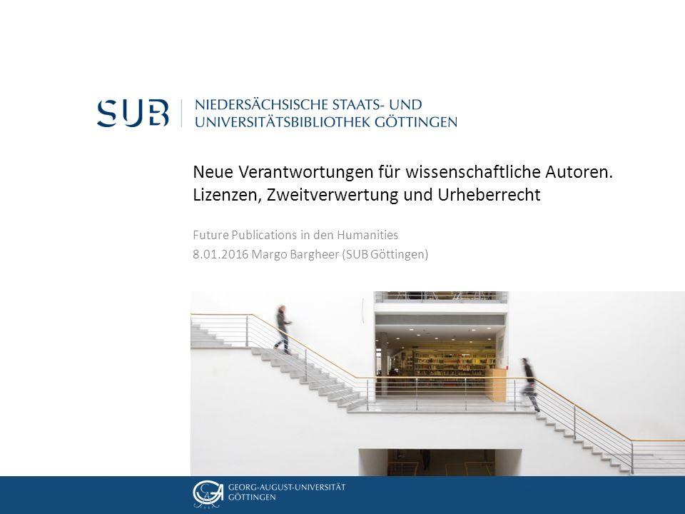 05. Dezember 2012 Neue Verantwortungen für wissenschaftliche Autoren.