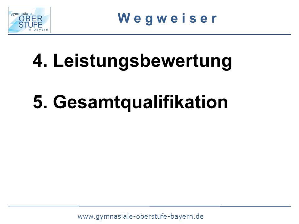 www.gymnasiale-oberstufe-bayern.de W e g w e i s e r 4. Leistungsbewertung 5. Gesamtqualifikation