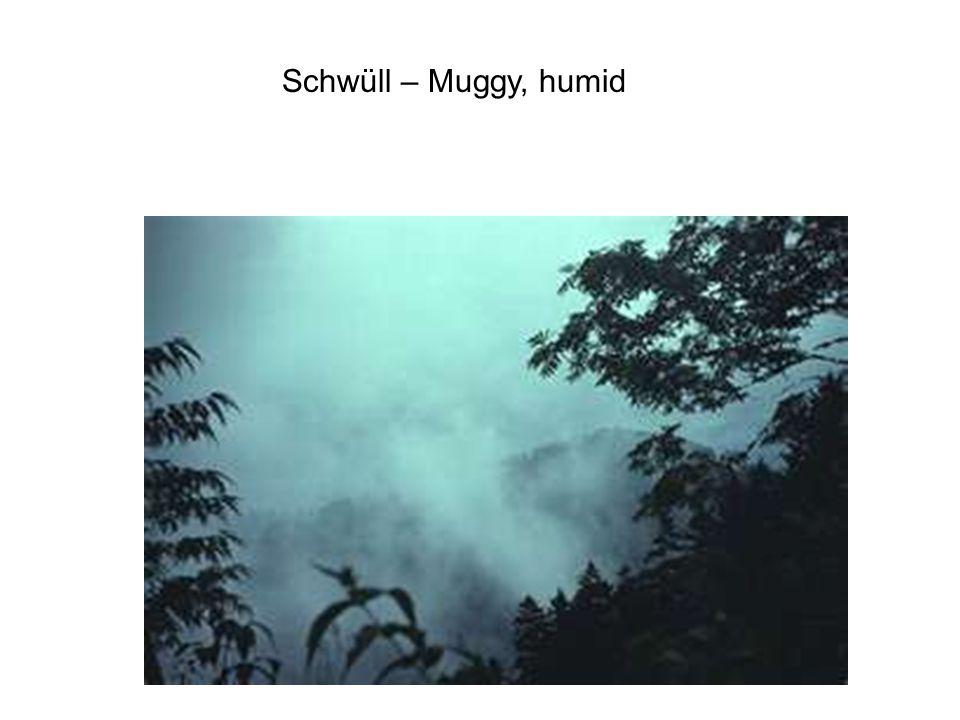 Schwüll – Muggy, humid