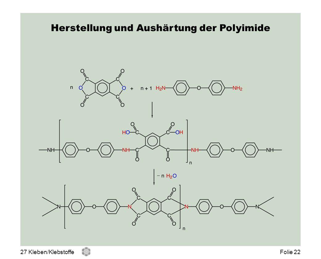 Herstellung und Aushärtung der Polyimide 27 Kleben/KlebstoffeFolie 22
