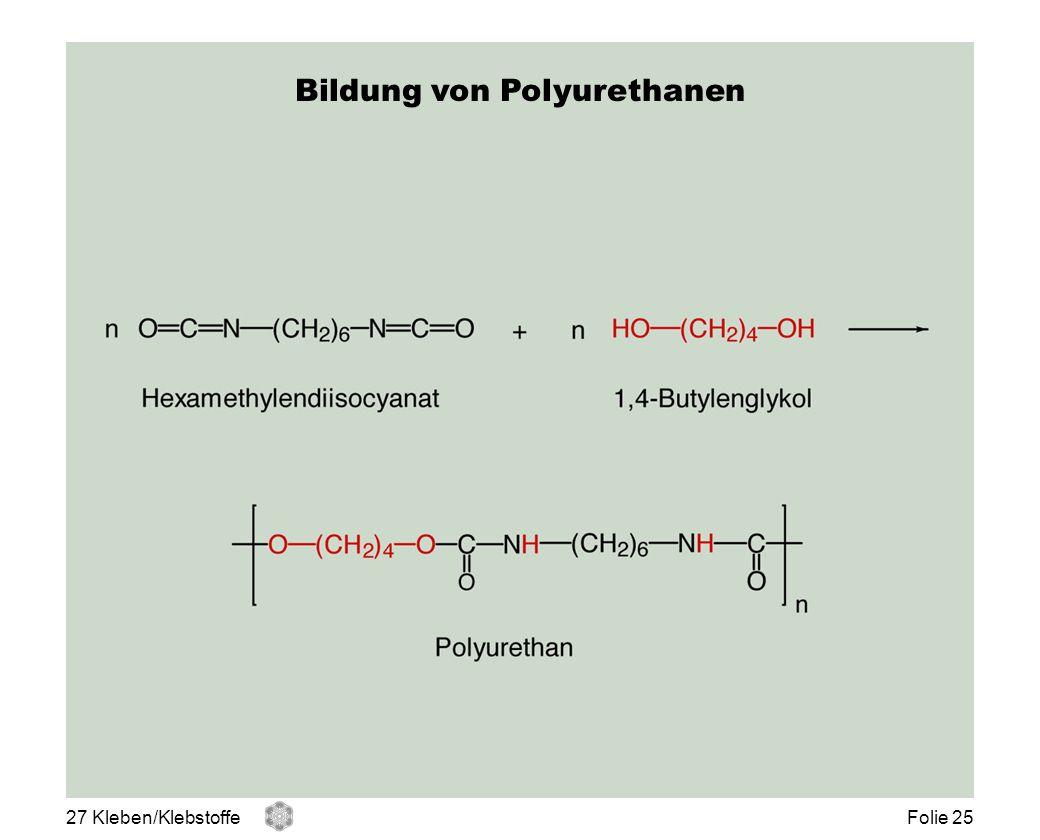 Bildung von Polyurethanen 27 Kleben/KlebstoffeFolie 25