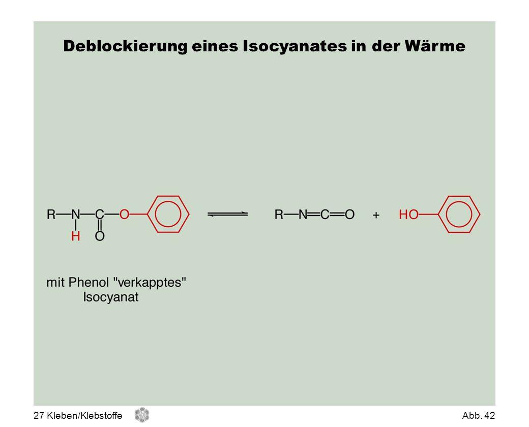 Deblockierung eines Isocyanates in der Wärme 27 Kleben/KlebstoffeAbb. 42
