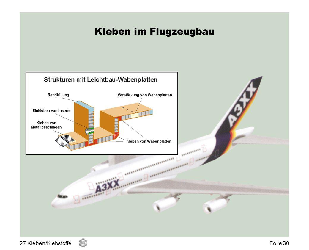Kleben im Flugzeugbau 27 Kleben/KlebstoffeFolie 30