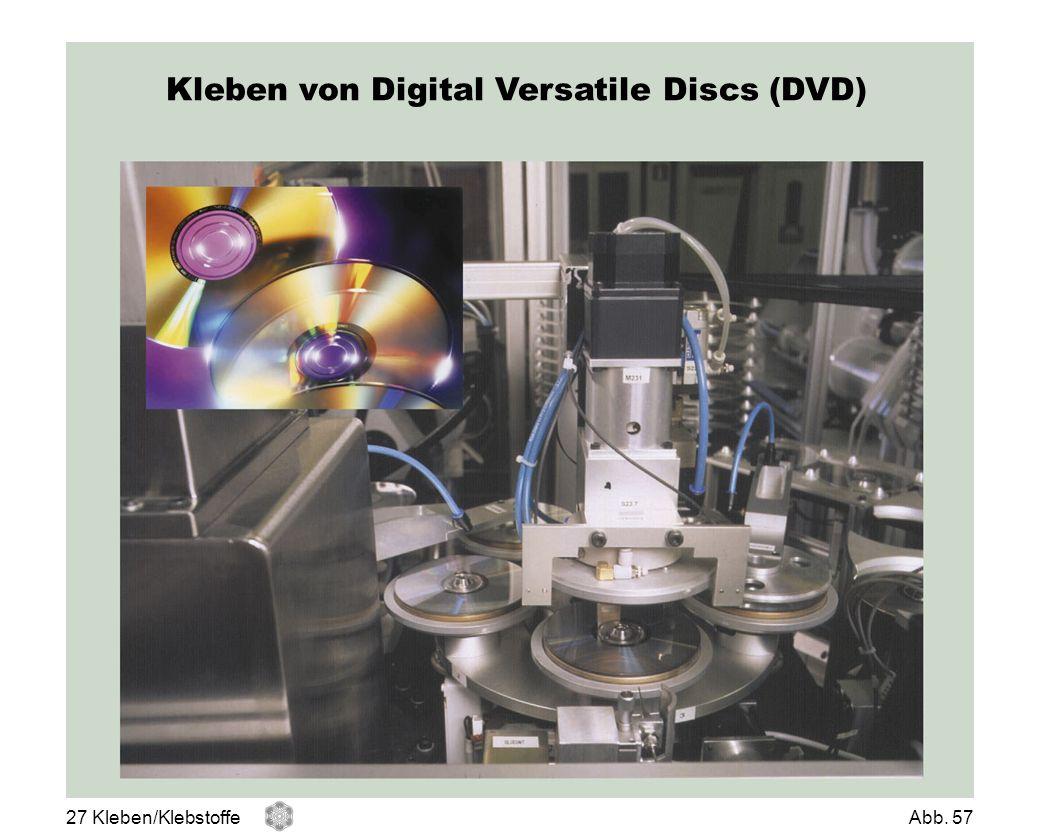 Kleben von Digital Versatile Discs (DVD) 27 Kleben/KlebstoffeAbb. 57