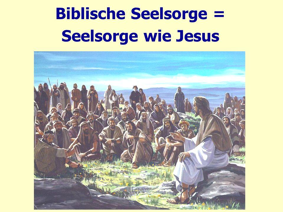 Jesus Seesorgeansatz: Wahrheit macht frei.Joh 8. 30 Als er das sagte, glaubten viele an ihn.