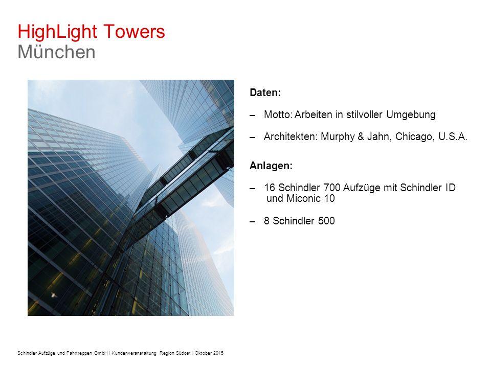 Daten: –Motto: Arbeiten in stilvoller Umgebung –Architekten: Murphy & Jahn, Chicago, U.S.A.