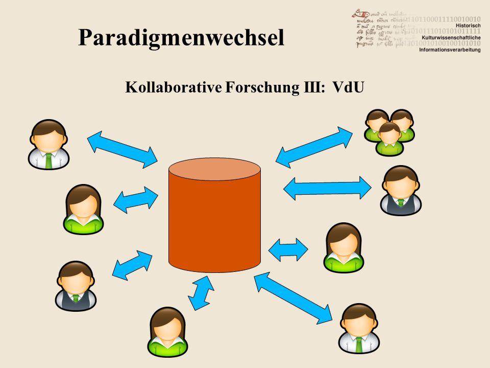 Paradigmenwechsel Kollaborative Forschung III: VdU