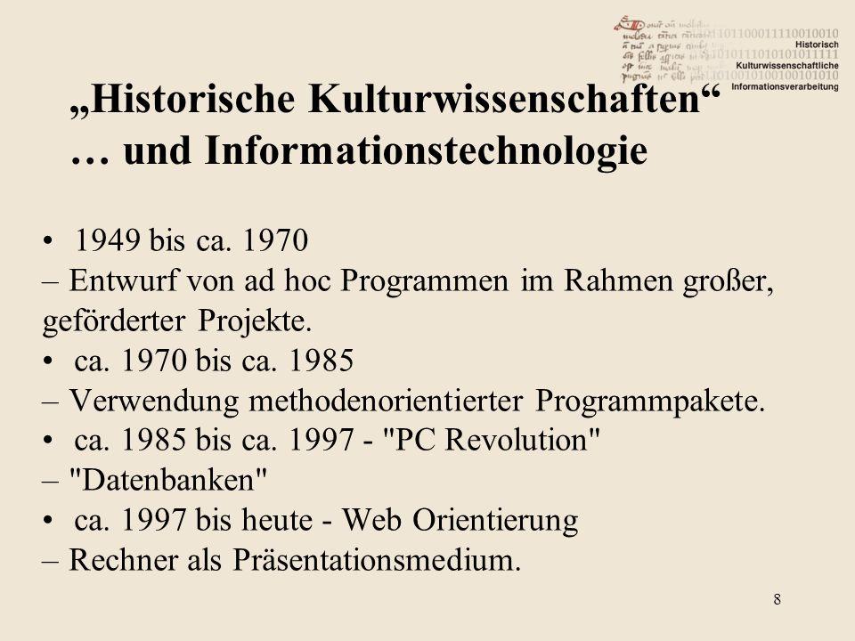 Textbasiert: – Literary Computing / Editionsphilology.