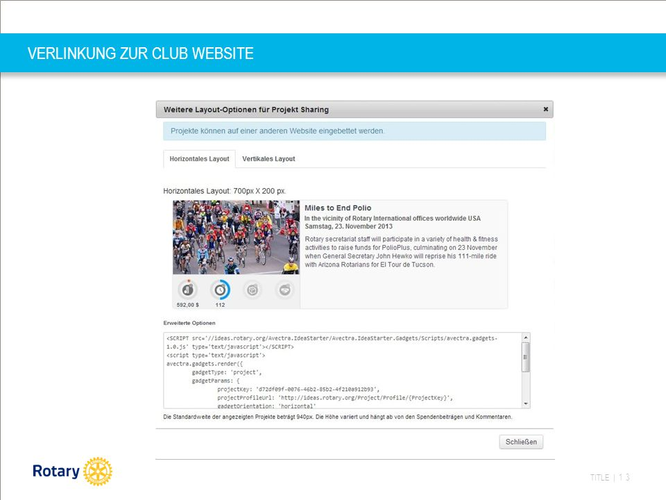TITLE | 13 VERLINKUNG ZUR CLUB WEBSITE