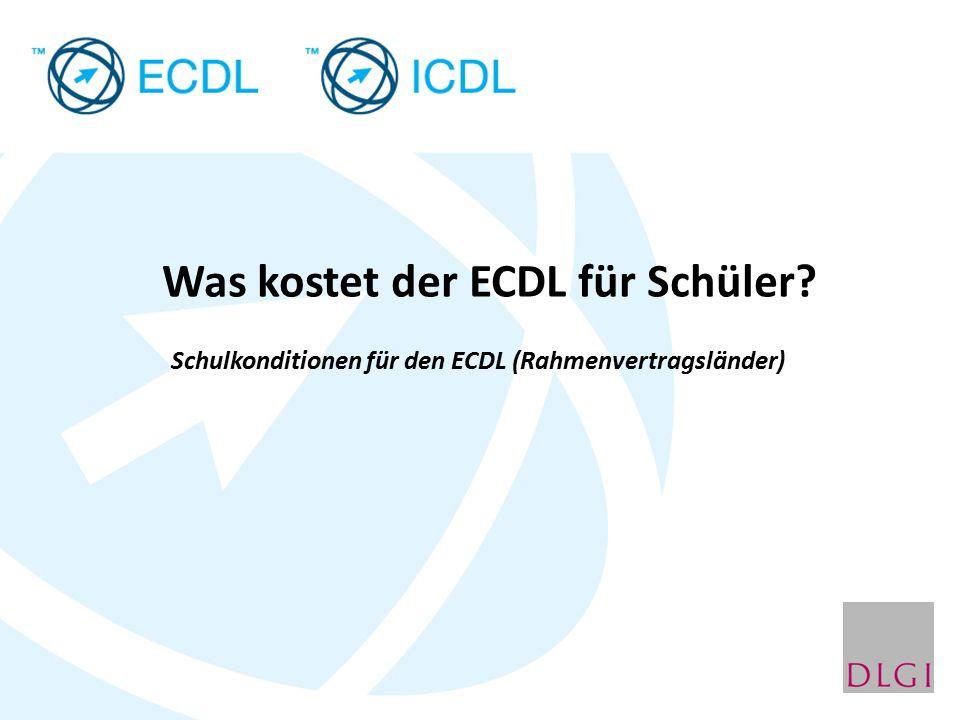 Was kostet der ECDL für Schüler? Schulkonditionen für den ECDL (Rahmenvertragsländer)