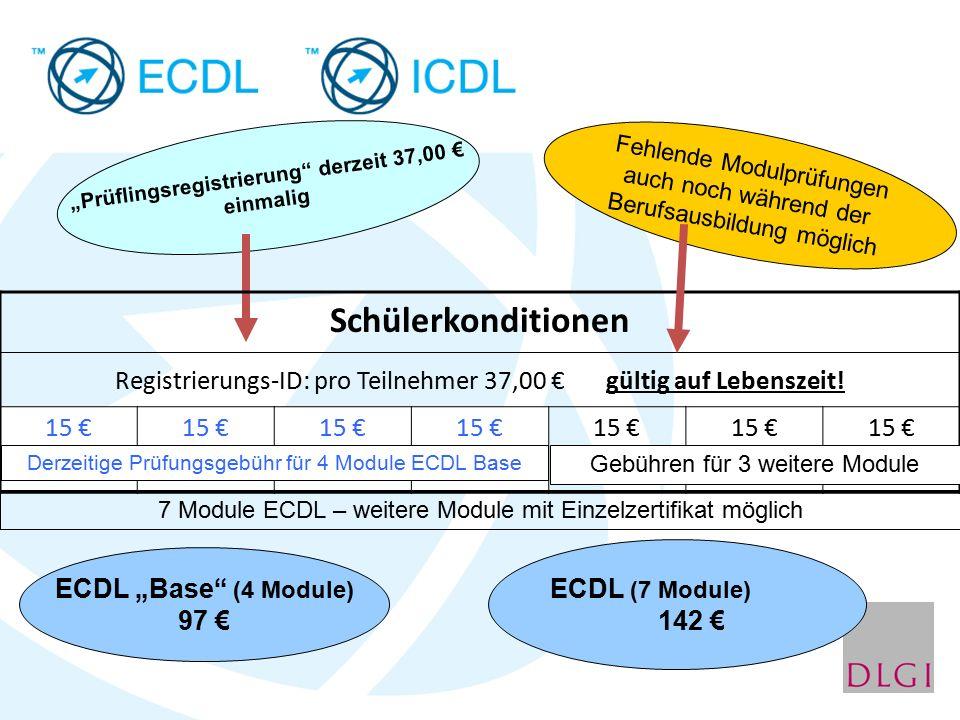 """""""Prüflingsregistrierung"""" derzeit 37,00 € einmalig Schülerkonditionen Registrierungs-ID: pro Teilnehmer 37,00 € gültig auf Lebenszeit! 15 € Derzeitige"""