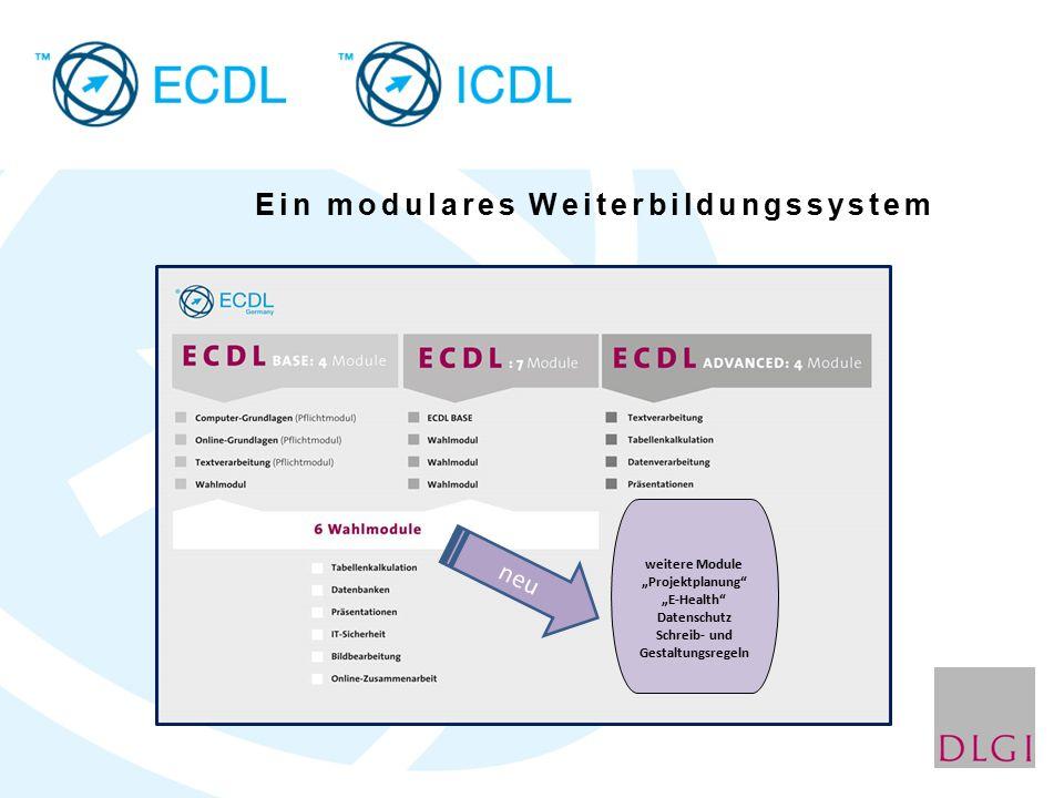 """weitere Module """"Projektplanung """"E-Health Datenschutz Schreib- und Gestaltungsregeln neu Ein modulares Weiterbildungssystem"""