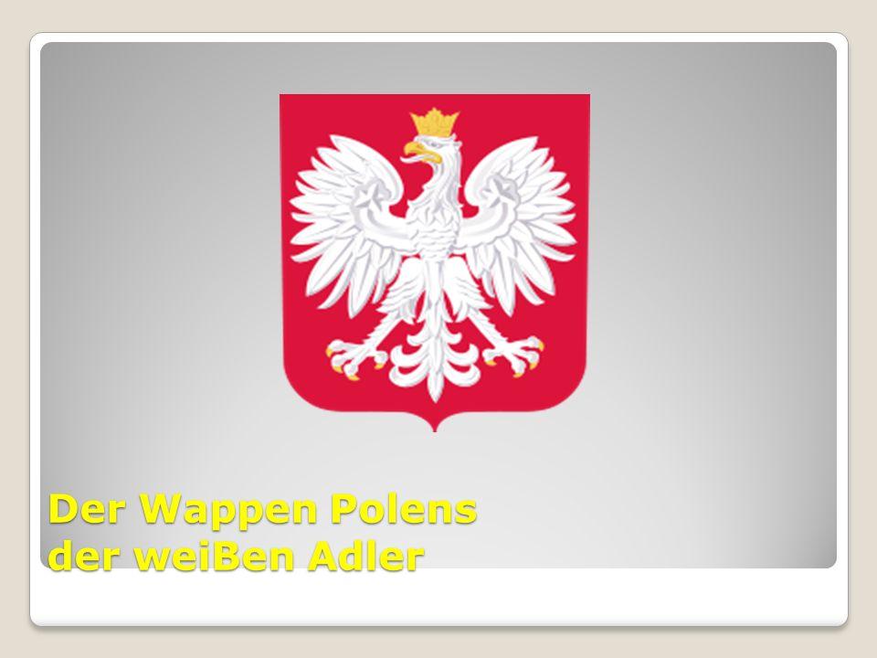 Der Wappen Polens der weiBen Adler