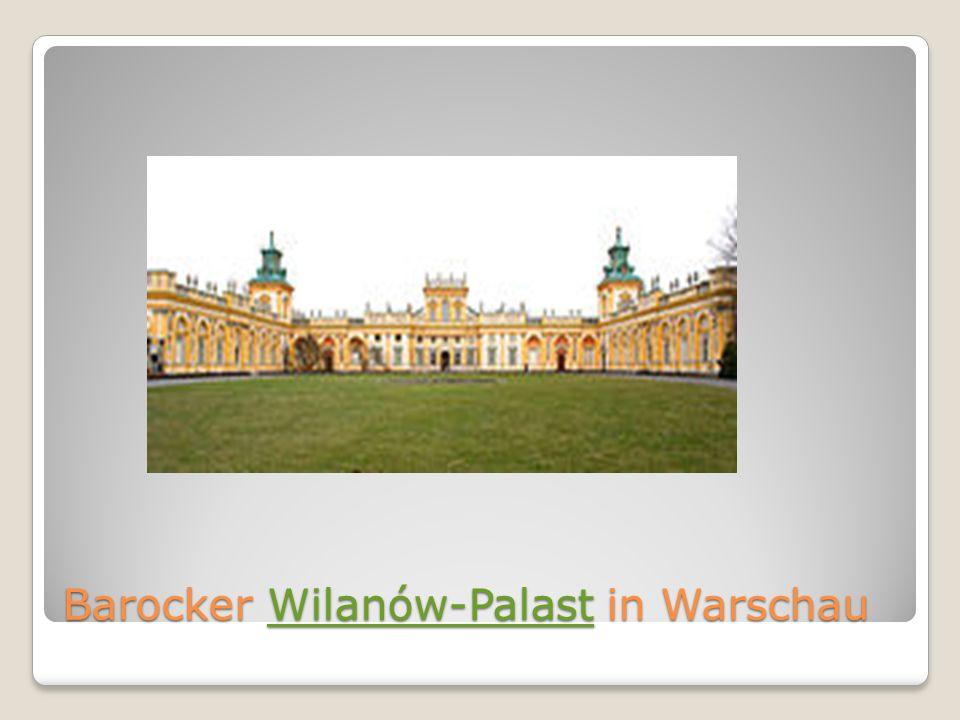 Barocker Wilanów-Palast in Warschau Wilanów-Palast