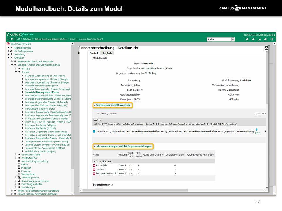 Modulhandbuch: Details zum Modul 37