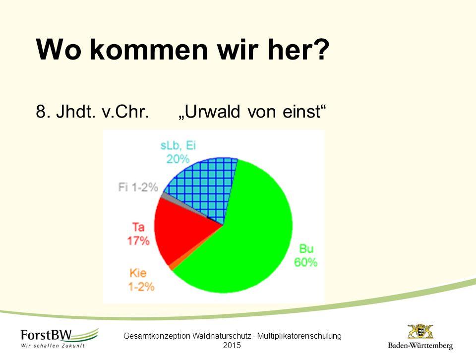 """Wo kommen wir her? 8. Jhdt. v.Chr.""""Urwald von einst"""" Gesamtkonzeption Waldnaturschutz - Multiplikatorenschulung 2015"""