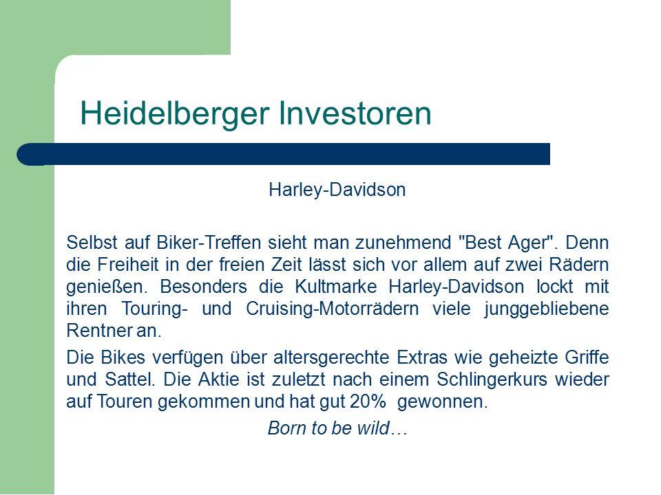 Harley-Davidson Selbst auf Biker-Treffen sieht man zunehmend Best Ager .