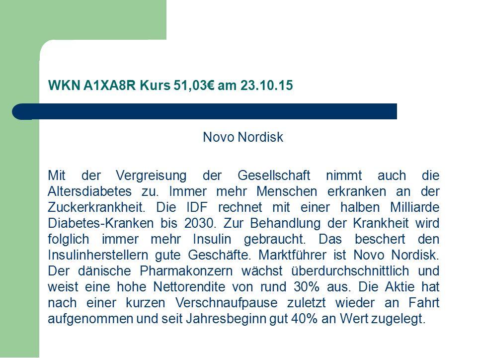 Novo Nordisk Mit der Vergreisung der Gesellschaft nimmt auch die Altersdiabetes zu.