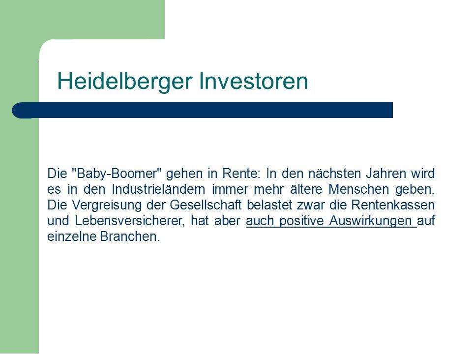 Die Baby-Boomer gehen in Rente: In den nächsten Jahren wird es in den Industrieländern immer mehr ältere Menschen geben.