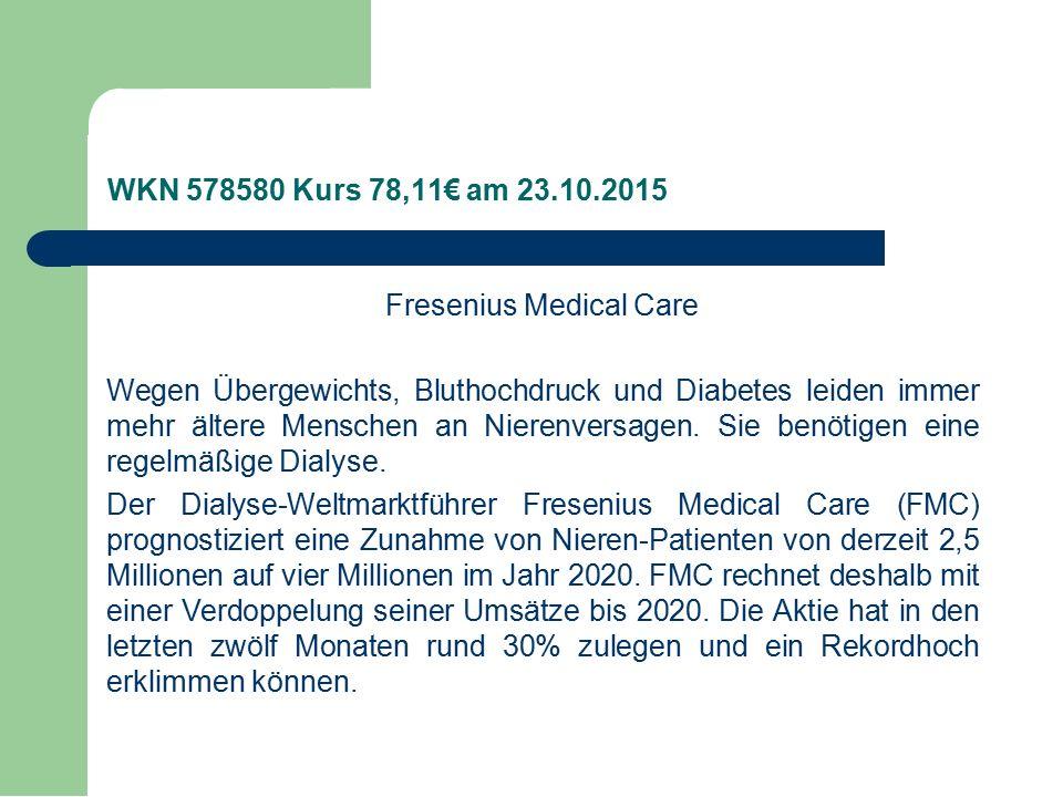 Fresenius Medical Care Wegen Übergewichts, Bluthochdruck und Diabetes leiden immer mehr ältere Menschen an Nierenversagen.