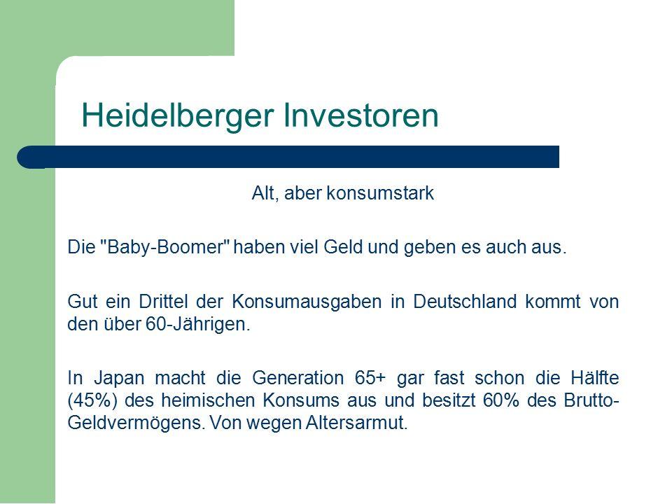 Alt, aber konsumstark Die Baby-Boomer haben viel Geld und geben es auch aus.