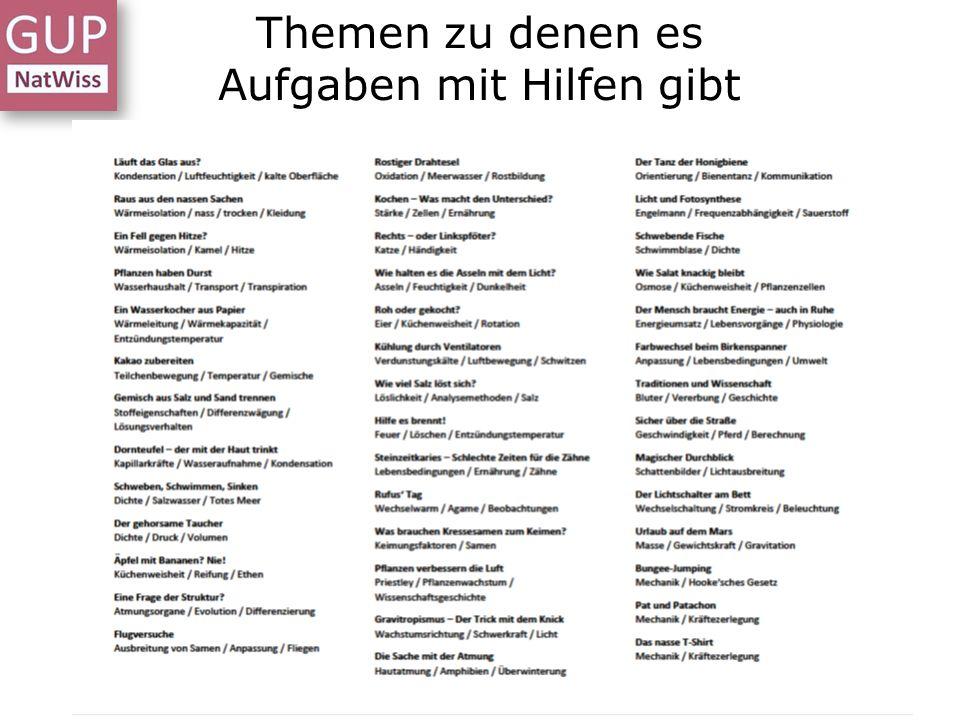 Themen zu denen es Aufgaben mit Hilfen gibt Dr. L. Stäudel, Leipzig, 12.01.2016