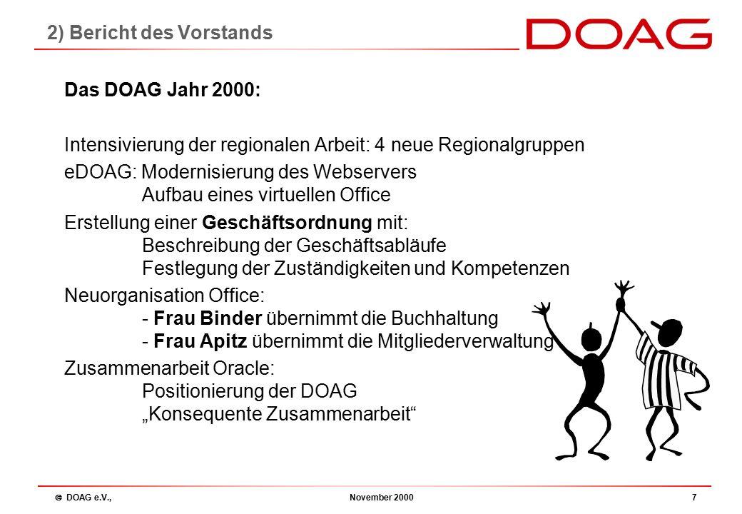  DOAG e.V., November 200018 Webserver eDOAG Thomas Pahl: 2.7) Webserver