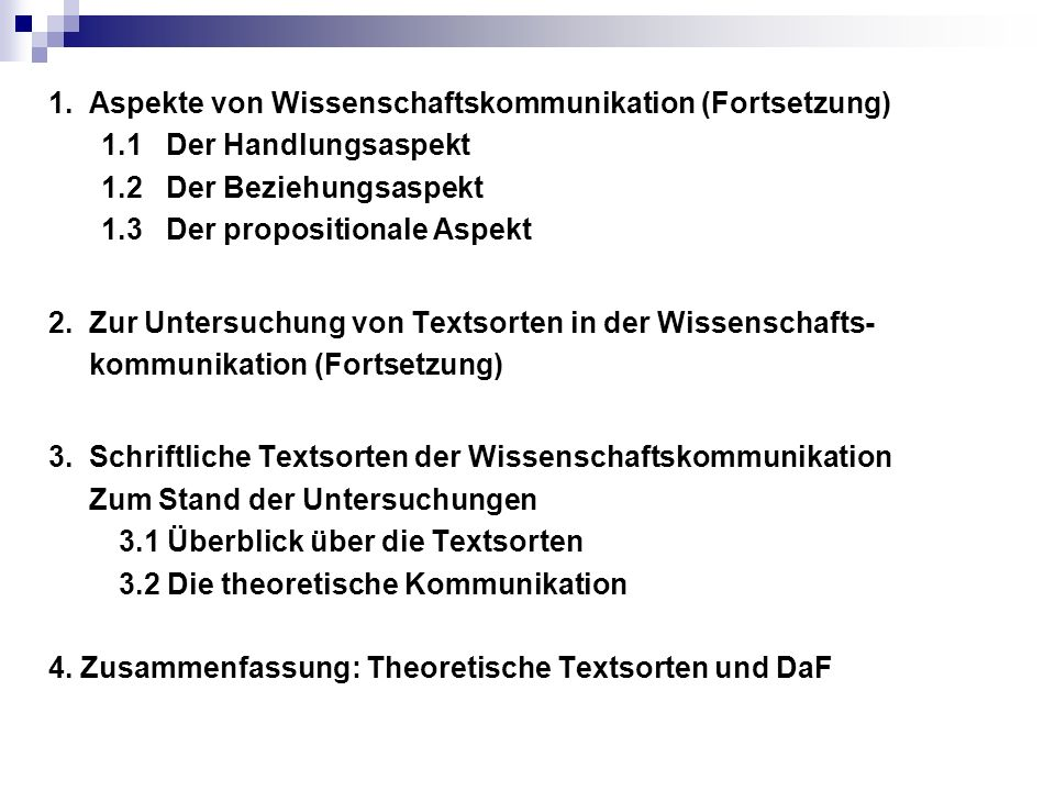 Linguistische Merkmale der Monographie (Gläser): 1) hoher bzw.