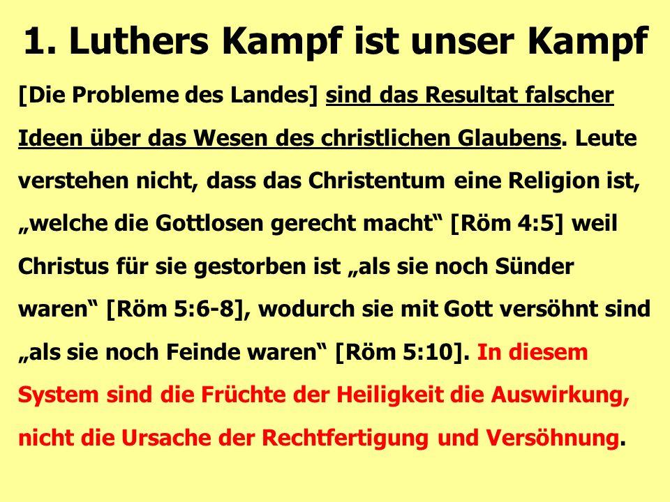[Die Probleme des Landes] sind das Resultat falscher Ideen über das Wesen des christlichen Glaubens.